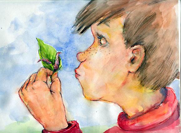 kinderbuchillustration-junge-betrachtet-wurm-von-agnes-zug.jpg
