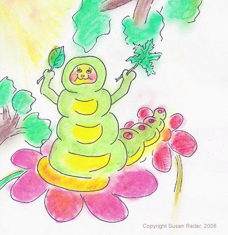 Illustration Raupe von Susan Reder