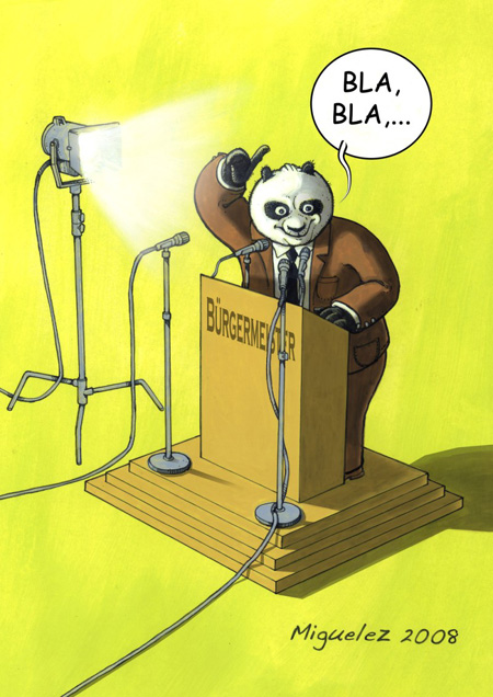Illustration Panda von Angel Miguelez