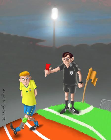 Fußball-Illustration von Angel Miguelez