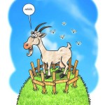 Comic-Illustration: Ziege als Meckerliese