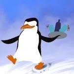 Pinguin mit Digitaler Kolorierung: Von Angel Miguelez