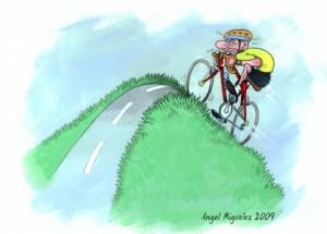 Gibt alles: Der Radfahrer von Angel Miguelez