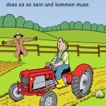 Der Bauer, der das Feld bestellt