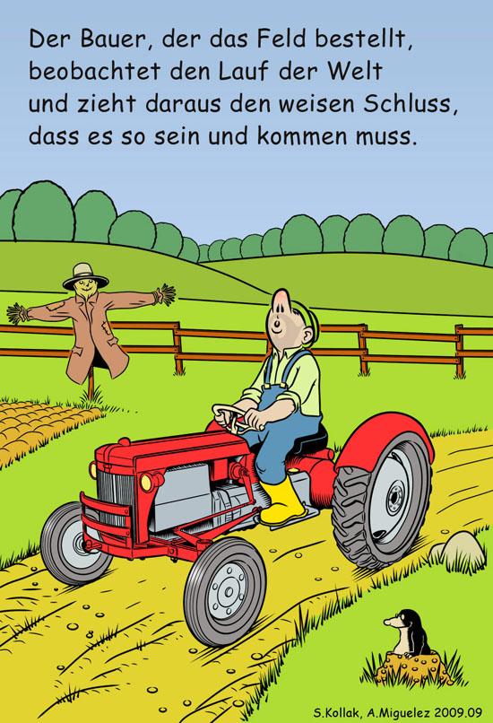 Bauernregeln illustriert von Angel Miguelez