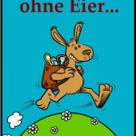 Comic-Illustration eines Osterhasen