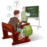 Comic über einen dummen Schüler
