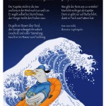 Illustration einer Möwe als Kapitän von Kinderbuch-Illustrator Angel Miguelez