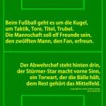 Plakat Fußballreim