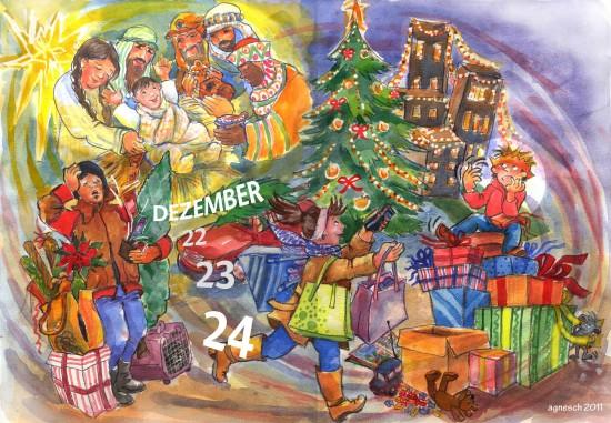 Illustration Weihnachten von Agnes Zug