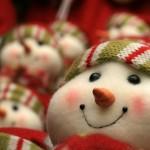 Lächelnder Schneemann aus Filz