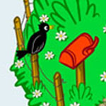 Vogel Comic-Zeichnung