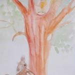 Hund jagt Katze: Kinderbuch-Illustration von Jenny Unger