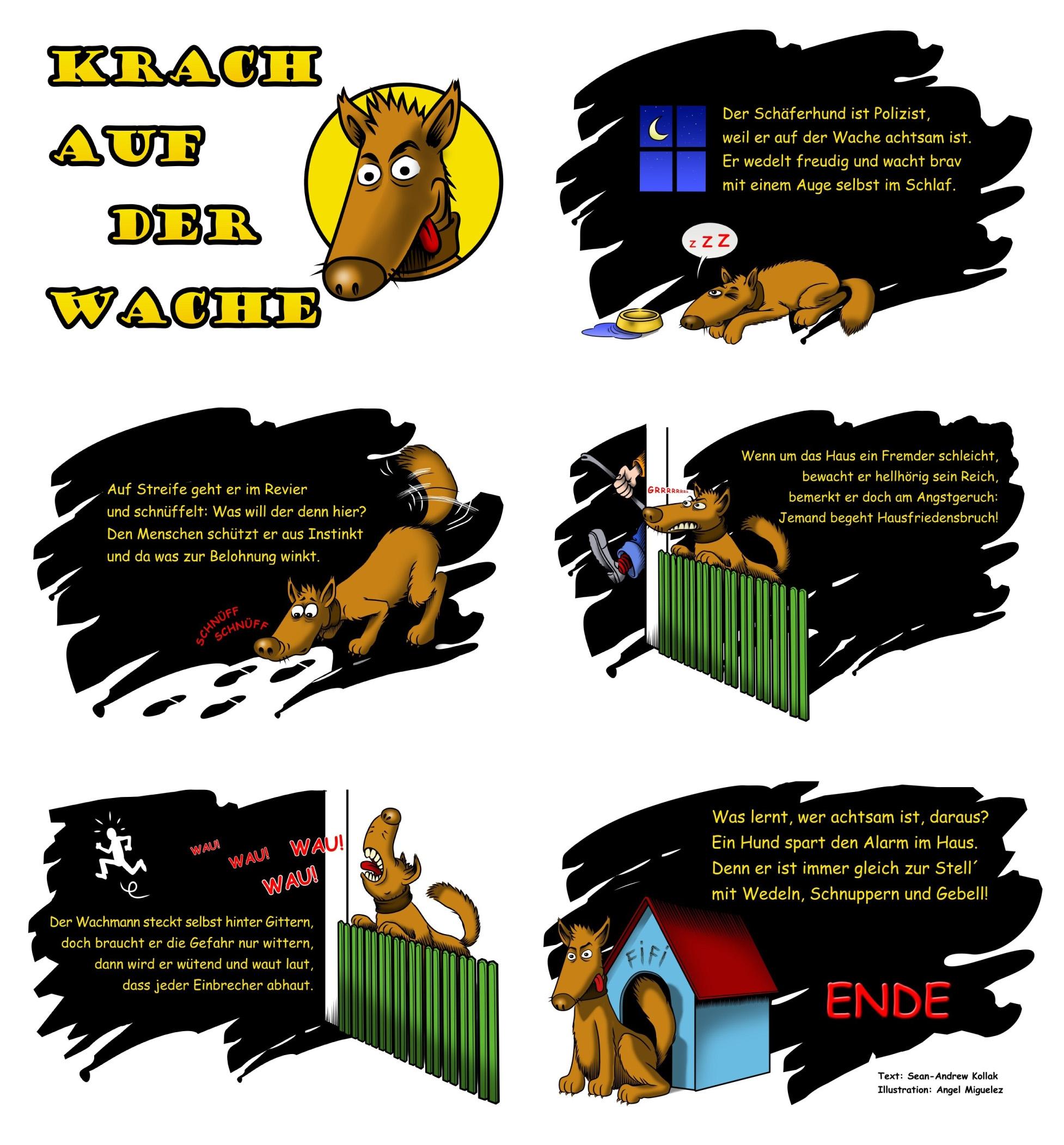 Comic-Strip Wachhund komplett
