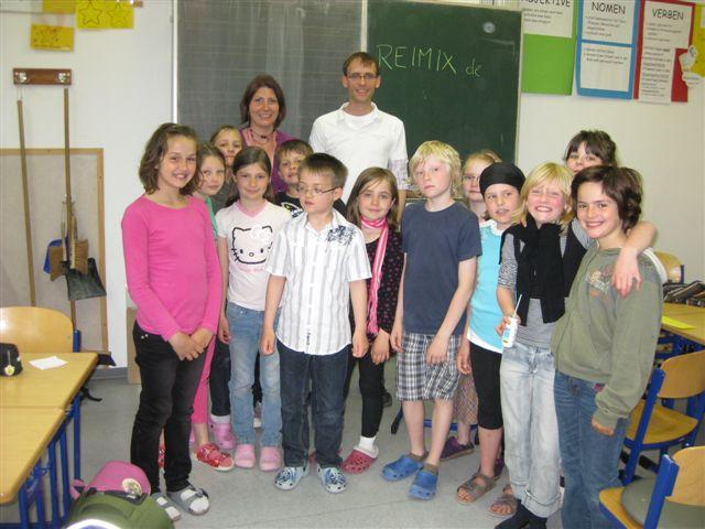 Klasse 3a mit dem Reime-Autor Sean Kollak