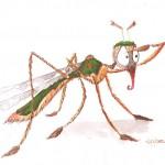 Illustration von Lona Azur zur Mücke