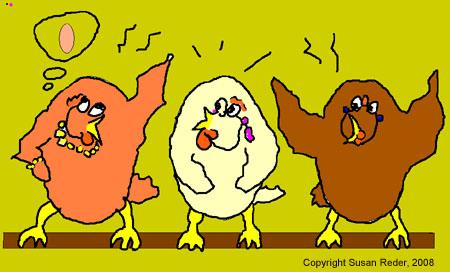 Illustration Huhn von Susan Reder