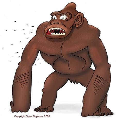 Illustration Gorilla von Sven Piepkorn