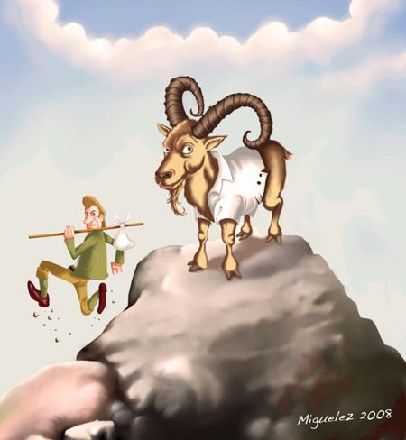Illustration zum Steinbock-Reim von Angel Miguelez
