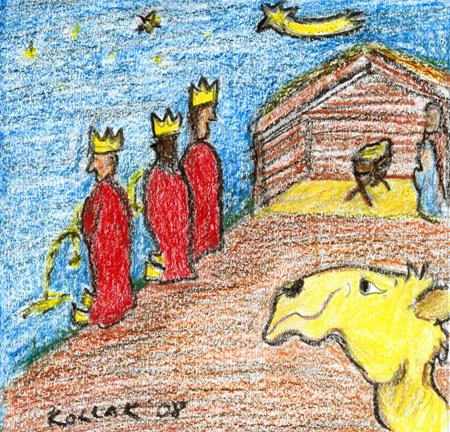 Illustration zum Reim über die Heiligen Drei Könige