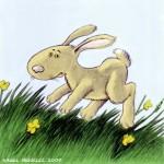 """Miguelez-Illustration zum Reim """"Ostern ohne Eier"""""""