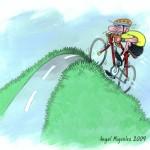 Zeichnung über das Radfahren von Angel Miguelez