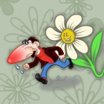 Illustration einer Rotznase von Angel Miguelez