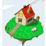 Wohngemeinschaft Erde – Illustration von Angel Miguelez