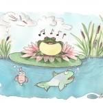 Illustration von Lona Azur zum singenden Frosch