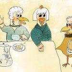 """Illustration """"Tratschtanten"""" von Anne  Jodocy"""